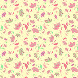 Artistic floral seamless texture. Stock Photo