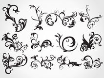 Artistic floral tattoos background Royalty Free Stock Photos