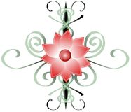 Artistic flower with artistic decoration Stock Image