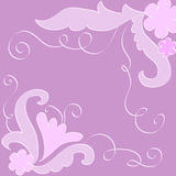 Artistic flowers and leaves. In pink and violet colors Stock Images