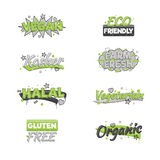 Artistic food and drink quality badges. Royalty Free Stock Photos