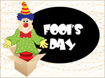 Artistic fools day background Stock Photos