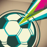 Artistic football banner. Royalty Free Stock Photography