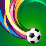 Artistic football design. Artistic wave style football design Stock Photos