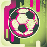Artistic football poster. Stock Image