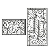 Artistic forging. The artistic forging products lattice Royalty Free Stock Image