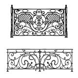 Artistic forging. The artistic forging products lattice Wrought Iron Door, Fence Stock Images
