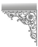 Artistic forging visor. The artistic forging Wrought Iron products visor Royalty Free Stock Photo