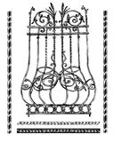 Artistic forging. Wrought-iron grille on a window Stock Photography
