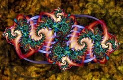 Artistic Fractal X. Fractal Abstract Art - Modern Style royalty free illustration