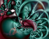 Artistic Fractal IX. Fractal Abstract Art - Modern Style royalty free illustration