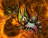 Artistic Fractal V. Fractal Abstract Art - Modern Style vector illustration