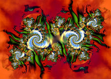 Artistic Fractal VII. Fractal Abstract Art - Modern Style stock illustration