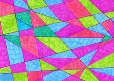 Artistic geometric background painted markers.  Handmade triangl. E  texture. Background for design cards,  postcards, banners, posters, surface, for wed and Royalty Free Stock Images