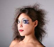 Artistic Glamour Stage Makeup. On a Blue Eyed Model stock images