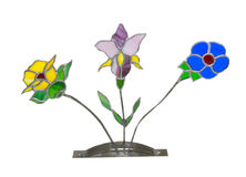 Artistic glass flower display Stock Images
