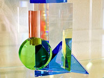 Artistic glass processing ,,Three-dimensional Kupka,, Stock Photography