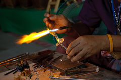 Artistic glassblowing Royalty Free Stock Photo