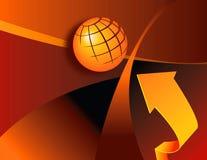 Artistic globe and arrow Royalty Free Stock Photos
