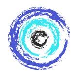 Artistic greek blue evil eye vector - symbol of protection Stock Photos