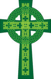 Artistic green celtic cross  illustration Stock Photos