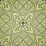 Artistic Green Seamless Pattern Stock Image