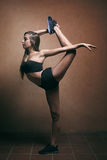 Artistic gymnast posing Royalty Free Stock Image