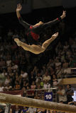 Artistic Gymnastics. Catalina Ponor, Romanian artistic gymnast, performs exercise in the balance beam final of the Romanian artistic gymnastics championship Stock Image