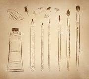 Artistic hand drawn vector set Royalty Free Stock Photography