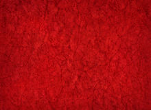 Artistic hand painted red paper background Royalty Free Stock Photo