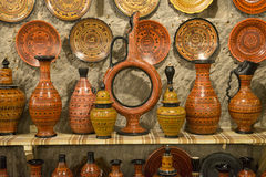 Artistic Handmade Clay Pottery Royalty Free Stock Photo