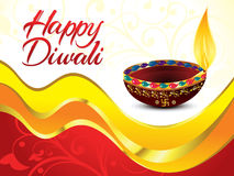 Artistic happy diwali background. Vector illustration Stock Photos
