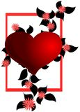 Isolated Artistic heart with flowers Stock Photography