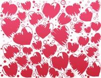 Artistic heart-shape. Abstract background. Artistic heart-shape Vector Illustration