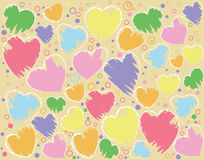 Artistic heart-shape. Abstract background. Artistic heart-shape Royalty Free Illustration