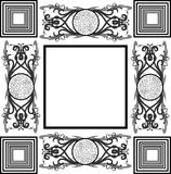 Artistic highly decorated frame isolated. A very elegant frame in black and white. An elegant image which can be used in different projects Royalty Free Stock Image