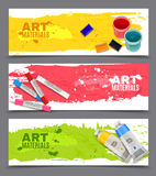 Artistic Horizontal Banners Set Stock Image