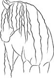 Artistic Horse. Artistic looking illustration of a Friesian horse looking back Royalty Free Stock Image