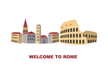 Artistic illustration of Rome Italy Royalty Free Stock Photos