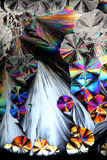 Artistic image of crystals of citric acid Royalty Free Stock Image