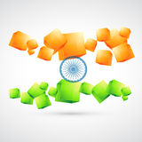 Artistic indian flag Stock Photos