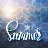 Artistic inscription on the background of summer sea Stock Images
