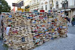 Artistic installation in a street of Prague Stock Images