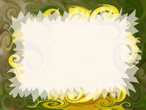 Artistic invitation. Abstract fancy invitation with easy editable blank area Royalty Free Stock Images