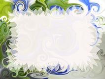 Artistic invitation. Abstract fancy invitation with easy editable blank area Royalty Free Stock Photo