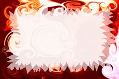 Artistic invitation. Abstract fancy invitation with easy editable blank area Stock Photography
