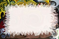 Artistic invitation. Abstract fancy invitation with easy editable blank area Stock Photos