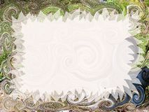 Artistic invitation. Abstract fancy invitation with easy editable blank area Royalty Free Stock Image