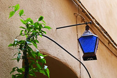 Artistic lamp. Handmade by artisans Stock Photo