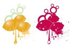 Artistic lemon illustrations Royalty Free Stock Photos